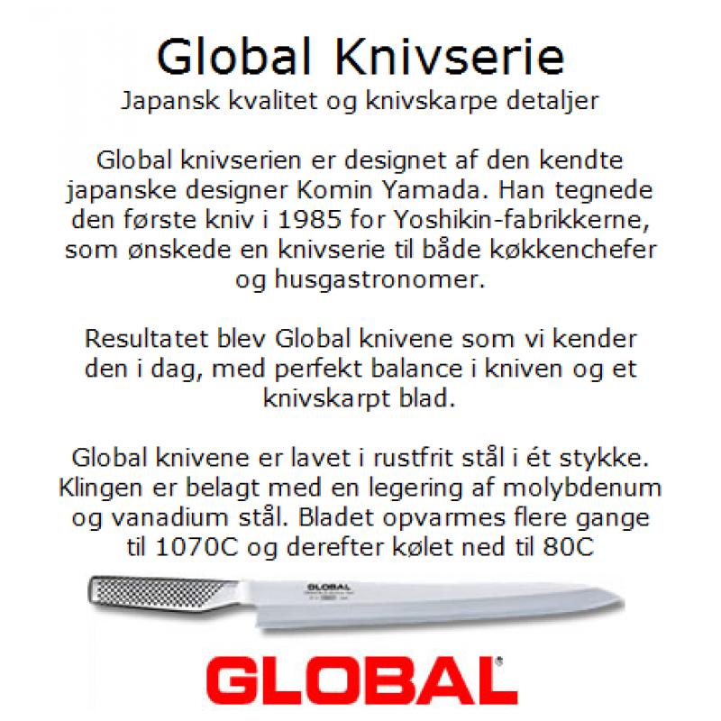 Global knivsæt 3 dele G2,GS-1,GSF-15-3