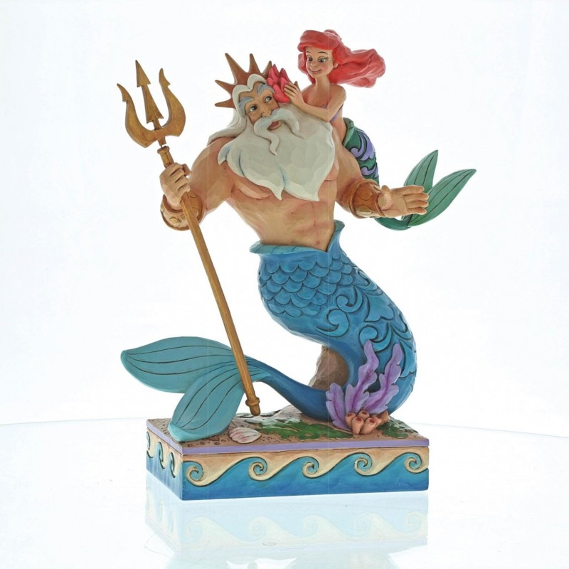 """Disney Traditions Ariel and Triton """"Daddys little princess""""-371"""