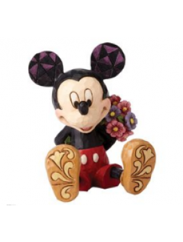 Mickey Mouse Figur med blomst Mini-20