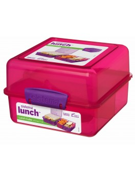 Sistema Lunch cube madkasse pink