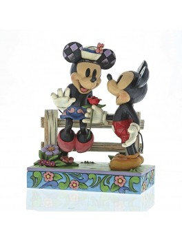 Mickey and Minnie figur Blomstrende romantik-20