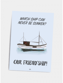 Citat plakat Friendship A5-20