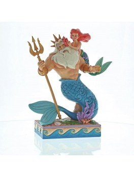 "Disney Traditions Ariel and Triton ""Daddys little princess""-20"