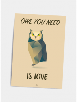 Citat plakat Owl you need A5-20