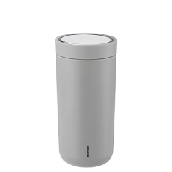 Stelton To-Go Click Thermokop, 0,4 liter Matte Light Grey