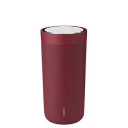 Stelton To-Go Click Thermokop, 0,4 liter Warm Maroon